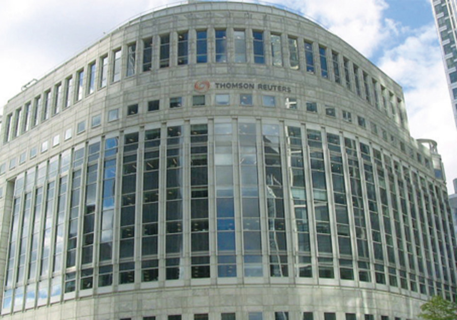 The Thompson-Reuters building in Canary-Wharf, London