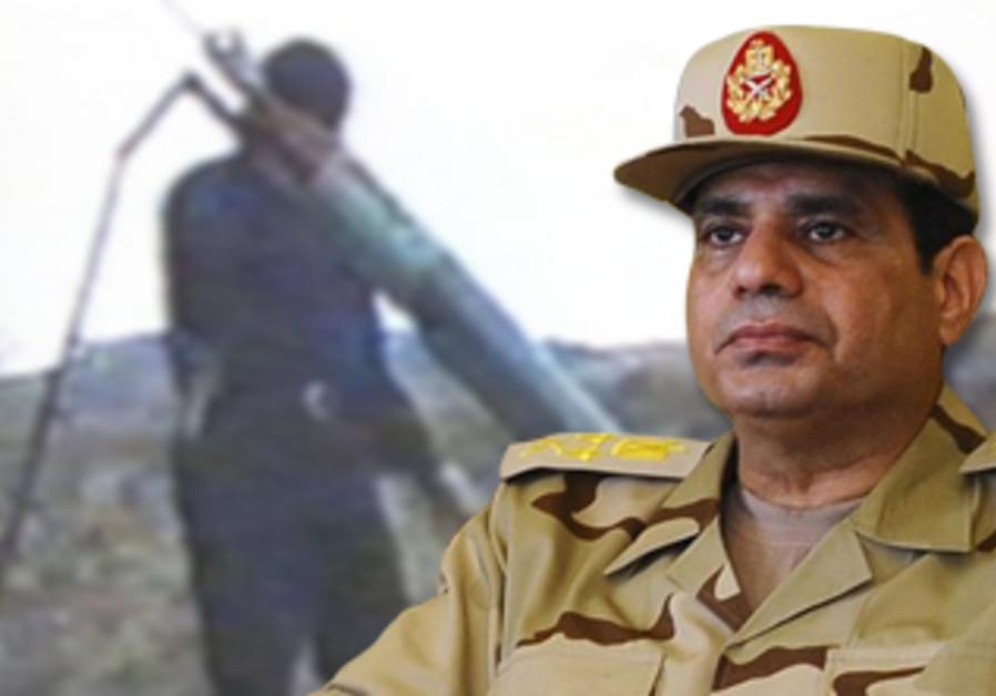 Egyptian military leader Abdel Fatah al-Sisi