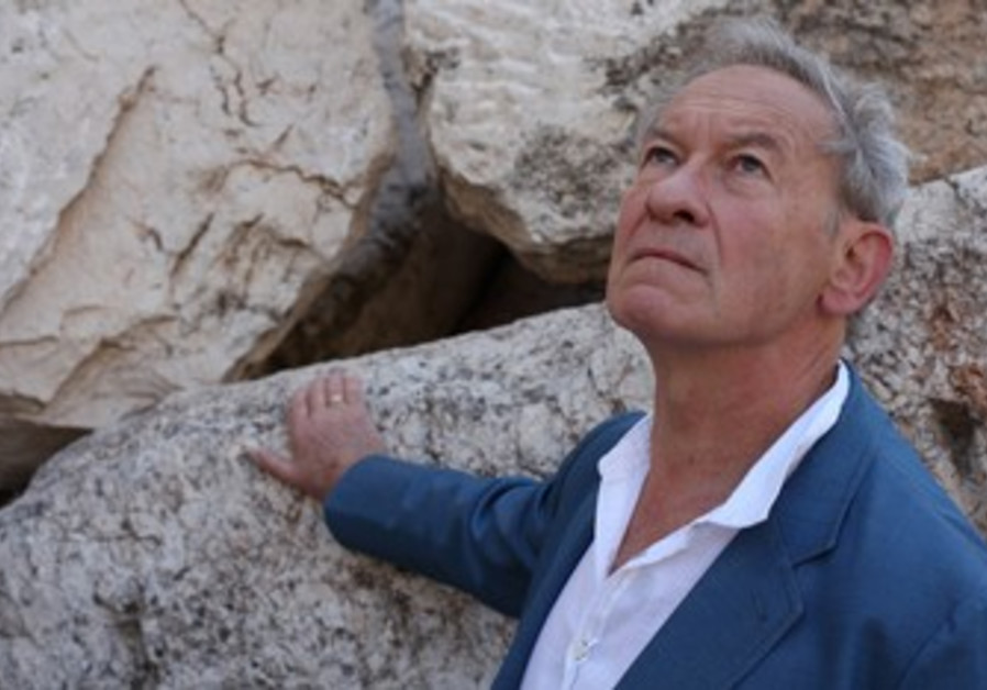 """Simon Schama in his documentary """"The Story of the Jews"""" visits the site of the Temple Mount"""