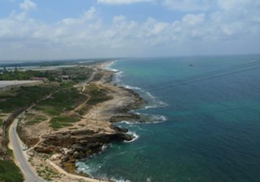The Rosh Hanikra shoreline