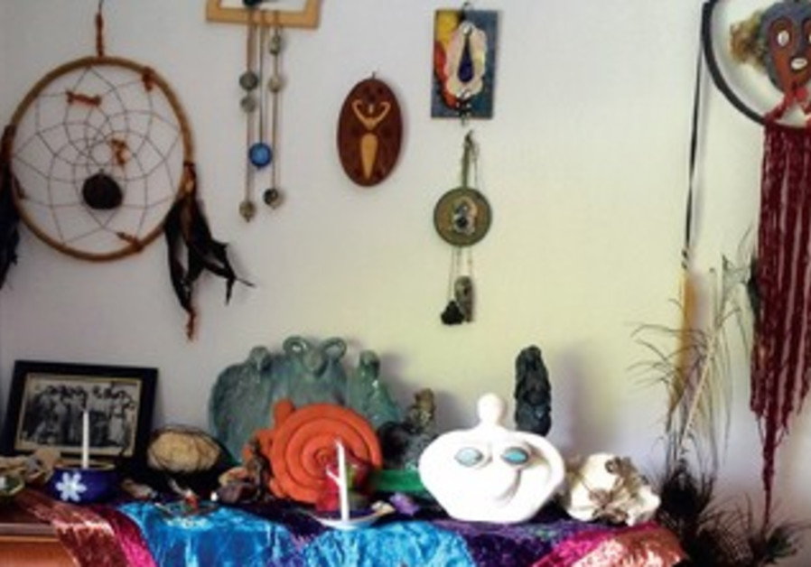 A shrine to Mother Earth is a place to light candles and give thanks.