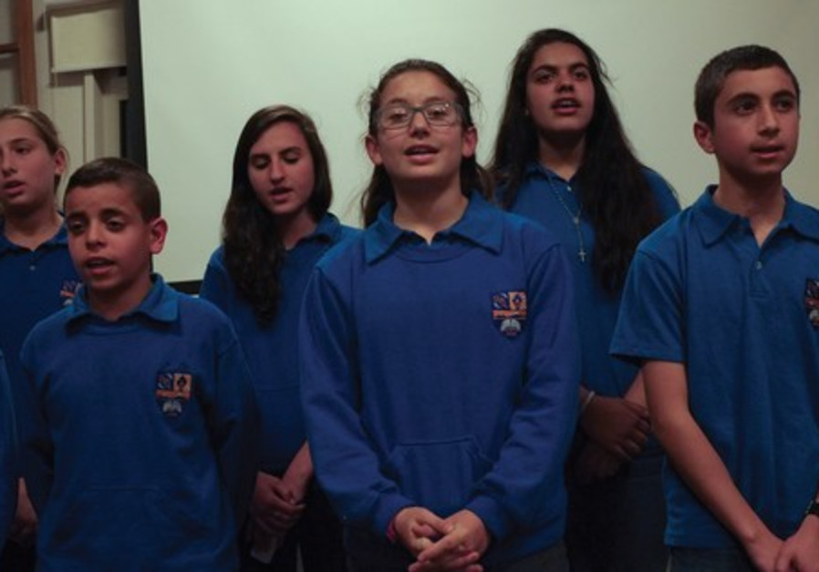Pupils from the Sts. Tarkmanchatz Armenian School of Jerusalem