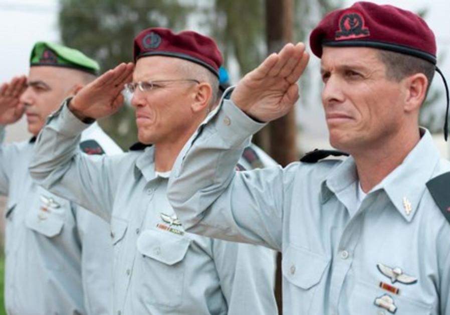 From left to right: Brig.-Gen. Moti Baruch, Maj.-Gen. Alon Nitzan, and Brig.-Gen. Nadav Padan.