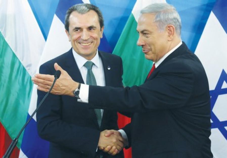 Binyamin Netanyahu with Plamen Oresharski