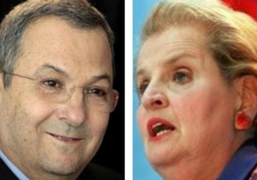Ehud Barak and Madeleine Albright
