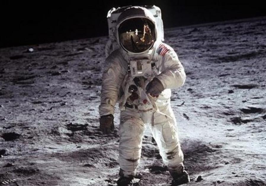 Man on moon [Illustrative]