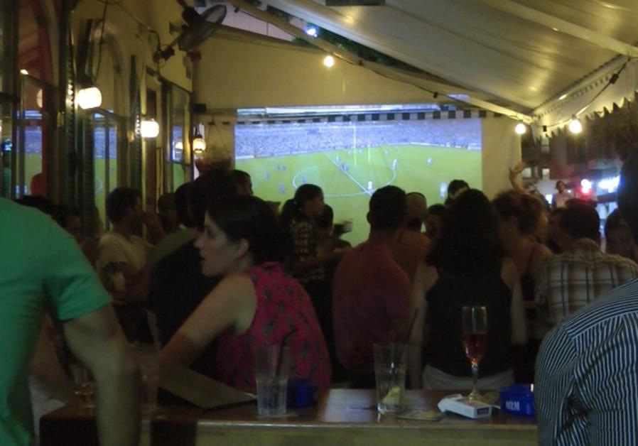 Tel Avivians celebrate World Cup