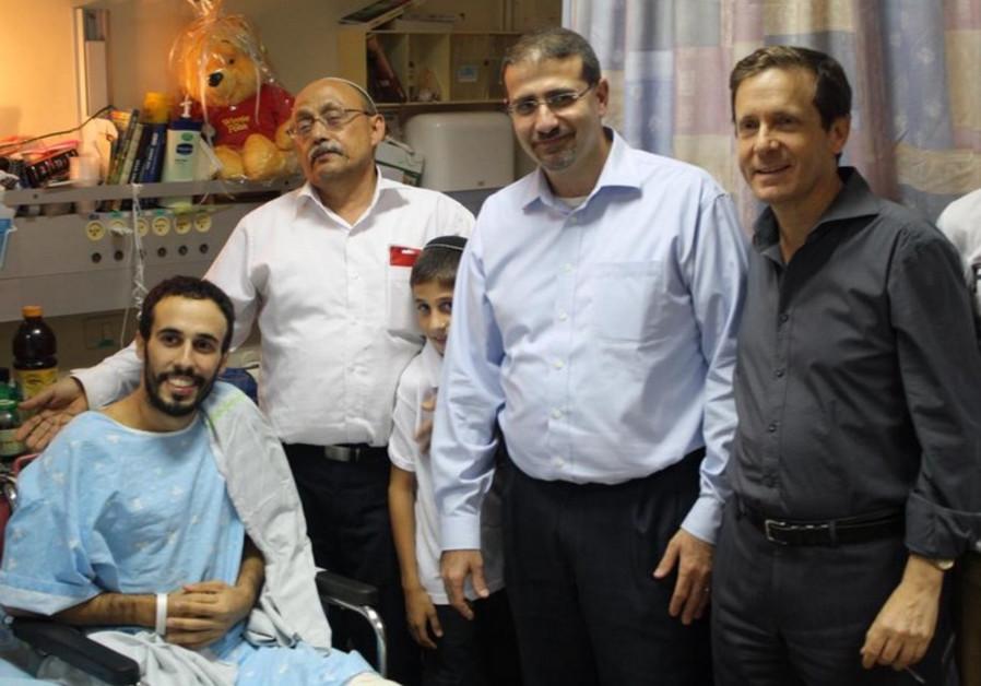 Labor leader Isaac Herzog and US Ambassador Dan Shapiro