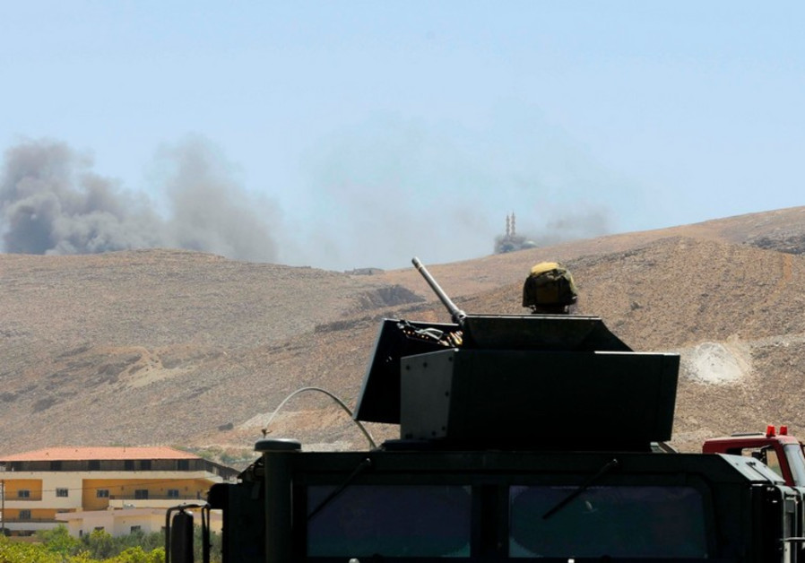 Lebanese soldiers in Arsal, at Syrian border