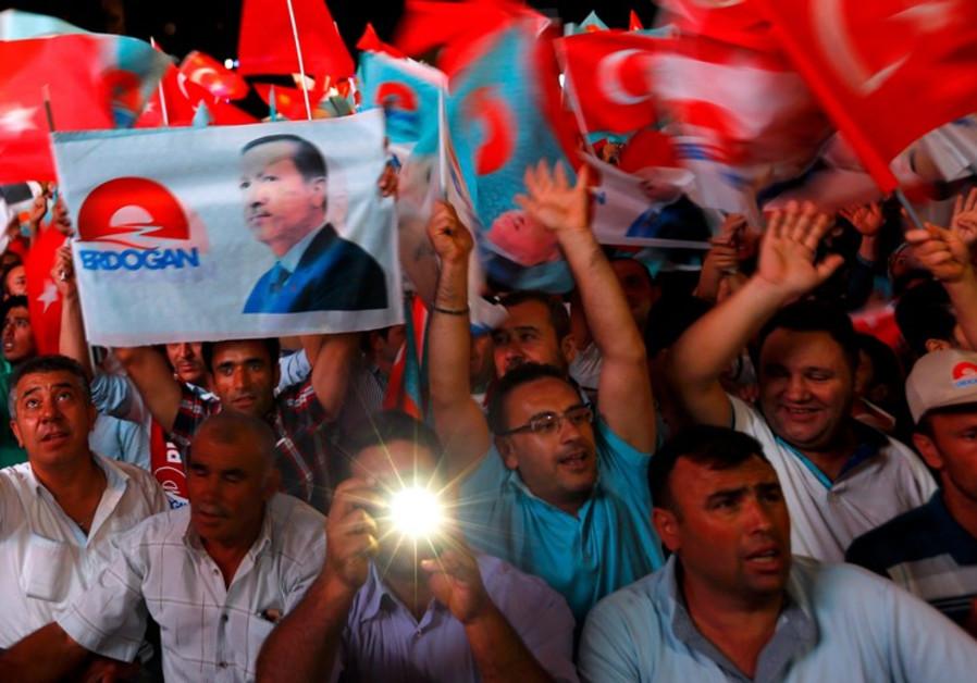 Erdogan victory celebration, August 10, 2014.