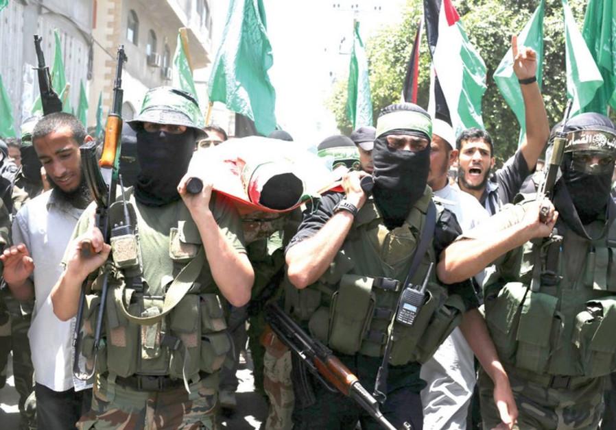 Hamas militants in Gaza