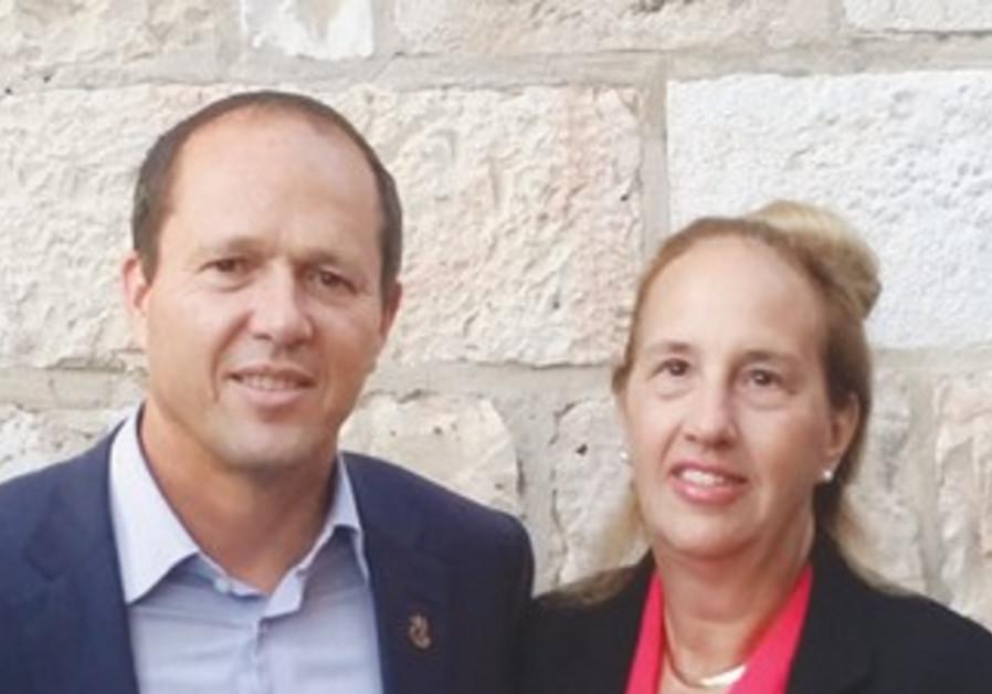 Manhattan Borough President Gale Brewer with Jerusalem Mayor Nir Barkat