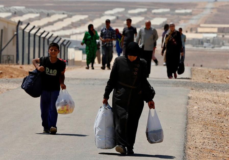 Syrian refugees in Jordan, August 2014.