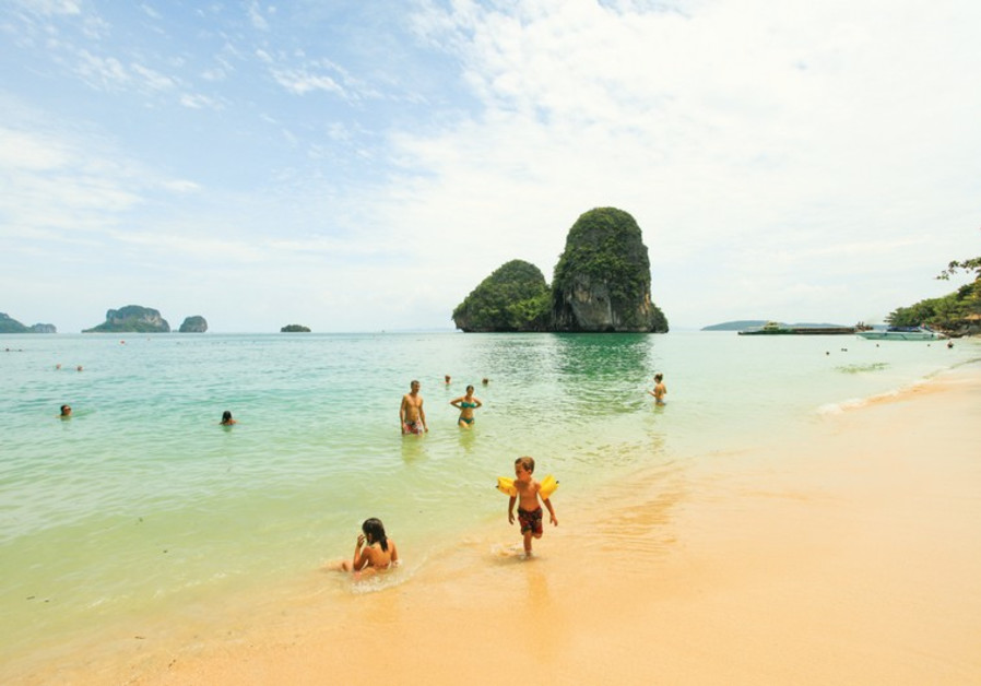 A pristine island beach