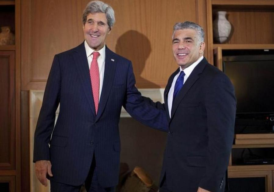 Yair Lapid and John Kerry