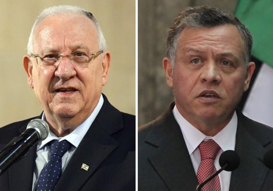 President Reuven Rivlin and Jordan's King Abdullah