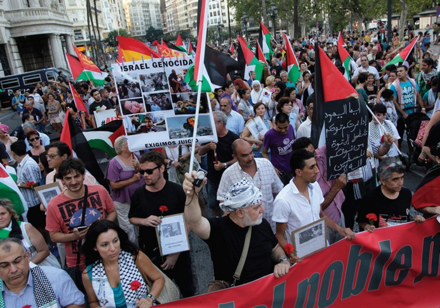 Protest against Gaza operation in Spain