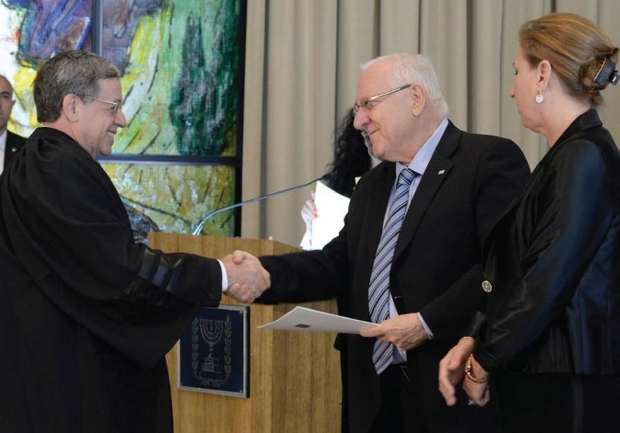 Meni Mazuz, Reuven Rivlin, and Tzipi Livni