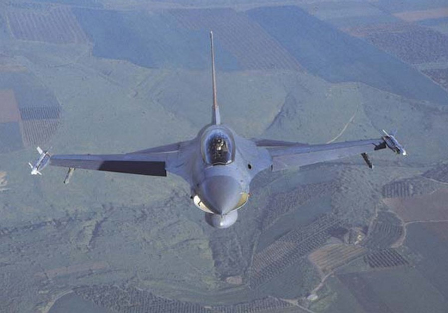 IAF F-16 fighter jet