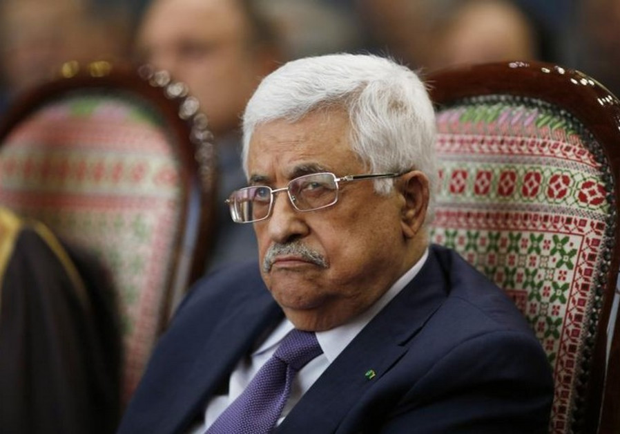 Palestinian Authority President Mahmoud Abbas attends a ceremony in Ramallah