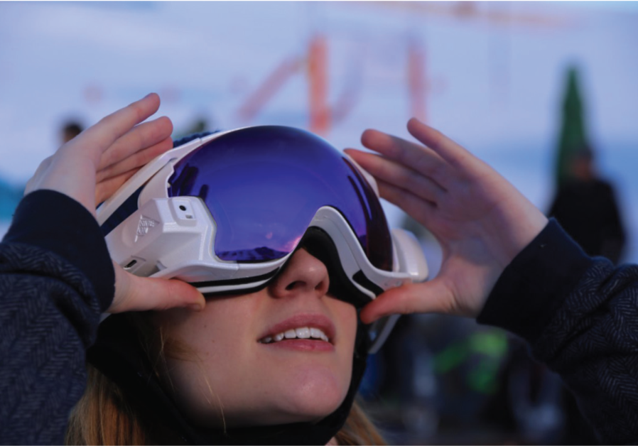RIDEON'S ADDITION for ski goggles lets skiers access maps, play music, chat with friends and play in