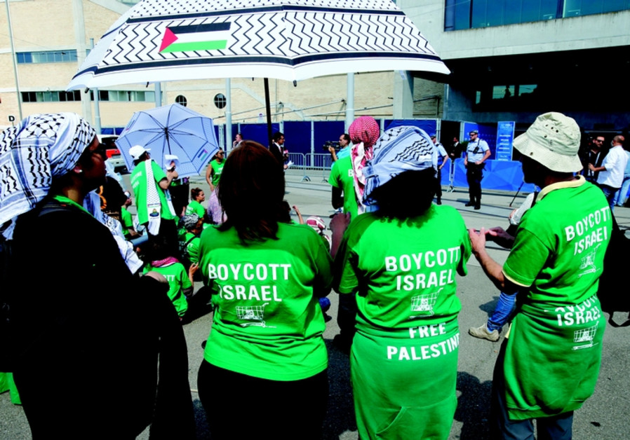 Des militants du BDS en action