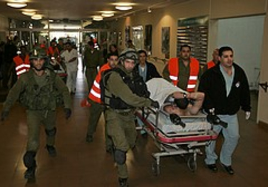 Wounded soldiers brought to Soroka [illustrative]