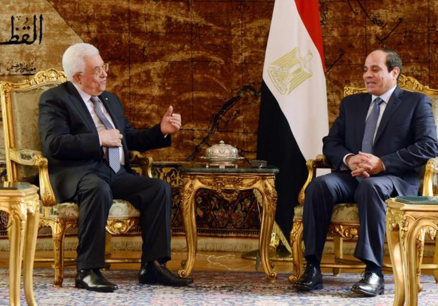 Mahmoud Abbas and Abdel Fattah al-Sisi