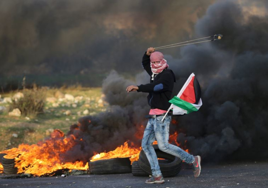 palestinian protester