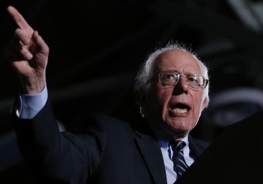 Democratic US presidential candidate Bernie Sanders