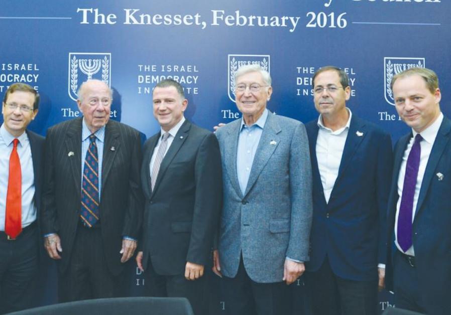 IDI'S INTERNATIONAL Advisory Council, led by its president, Yohanan Plesner (right), accompanied by