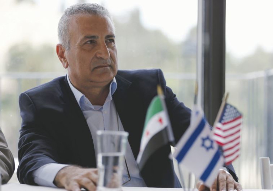 SYRIAN OPPOSITION LEADER Kamal al-Labwani attends a news conference in Jerusalem yesterday