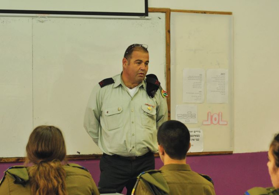 CHIEF TECHNOLOGY and Maintenance officer Brig.-Gen Eliezer Ben Harush addresses students.