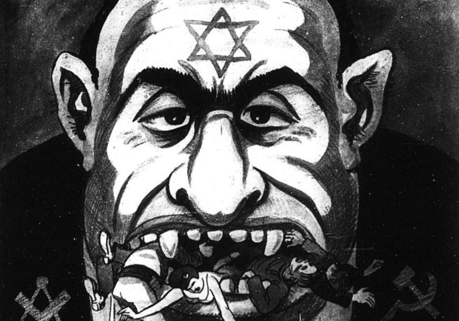 Anti-Semitic cartoon from Der Sturmer