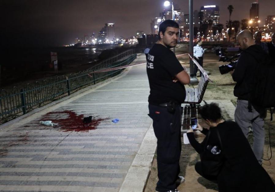 Scene of stabbing in Jaffa