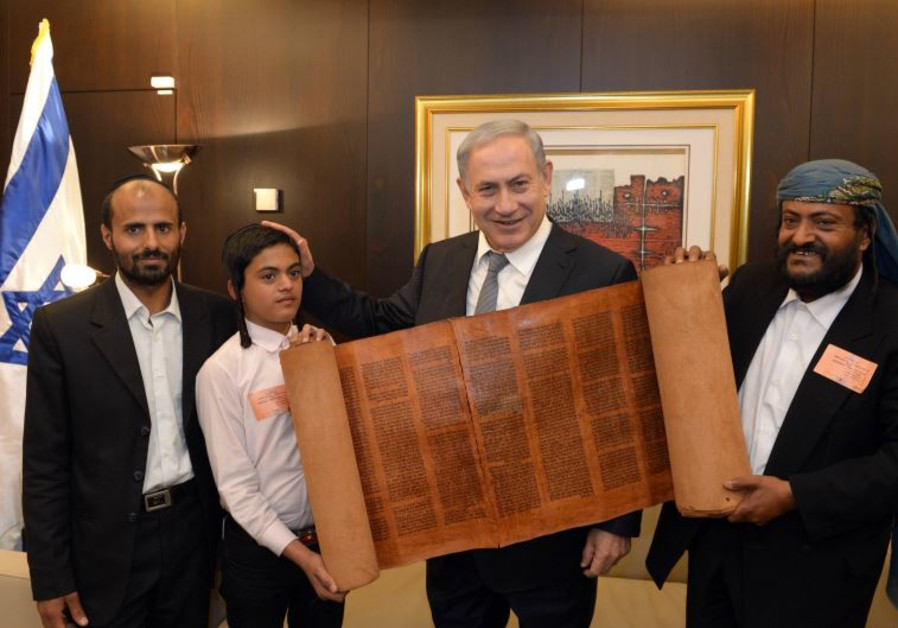 New Yeminite immigrants meet with Prime Minister Benjamin Netanyahu