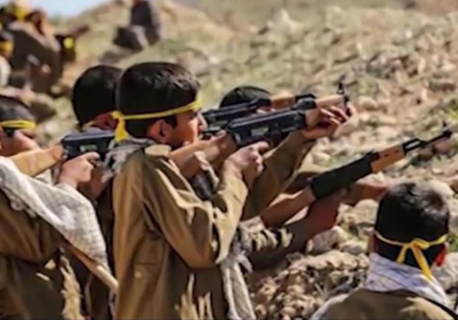 Iran regime produces video clip urging children to enlist in the Syria war