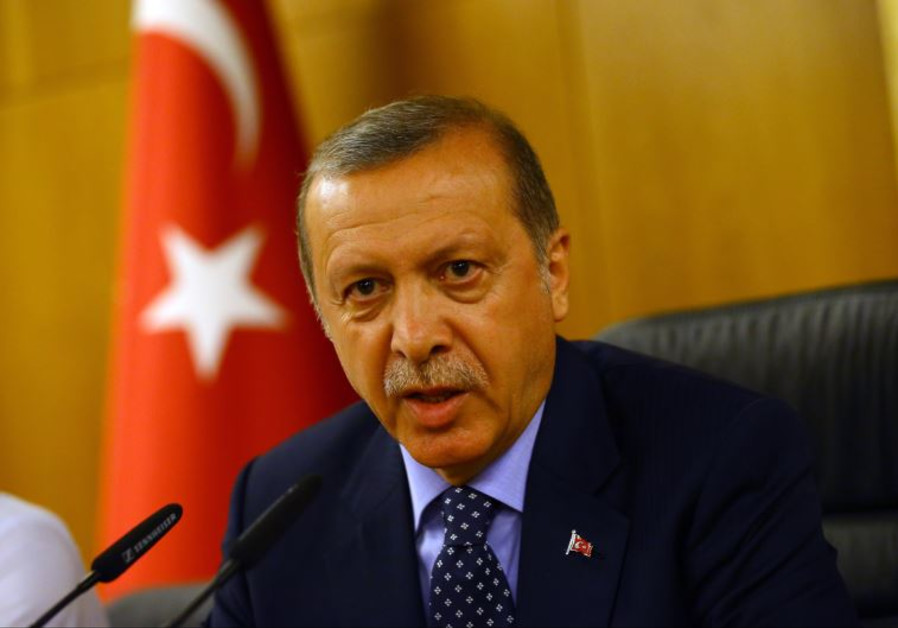 Turkish President Tayyip Erdogan addresses during an attempted coup in Istanbul, Turkey July 16, 201