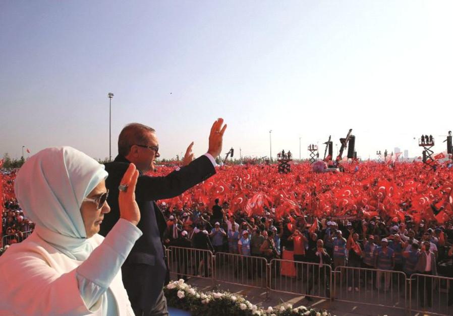 Rassemblement de soutien au président Erdogan, le 7 août 2016