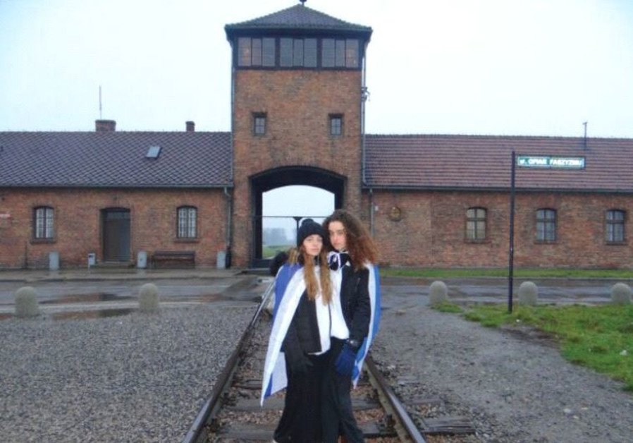 ABIGAIL LEIBLER and No'a Ehrman-Loebenberg on a trip to Birkenau, earlier this month