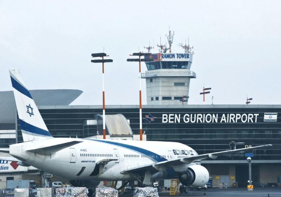 AN EL AL Boeing 777 aircraft is seen at Ben-Gurion Airport