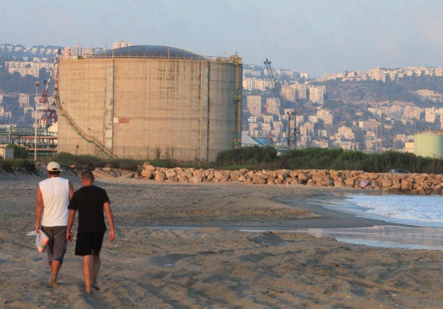 Haifa Bay's 12,000-ton ammonia tank