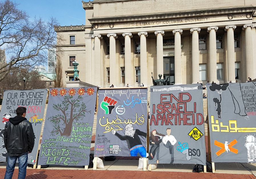 Israel Apartheid Week at Columbia University.