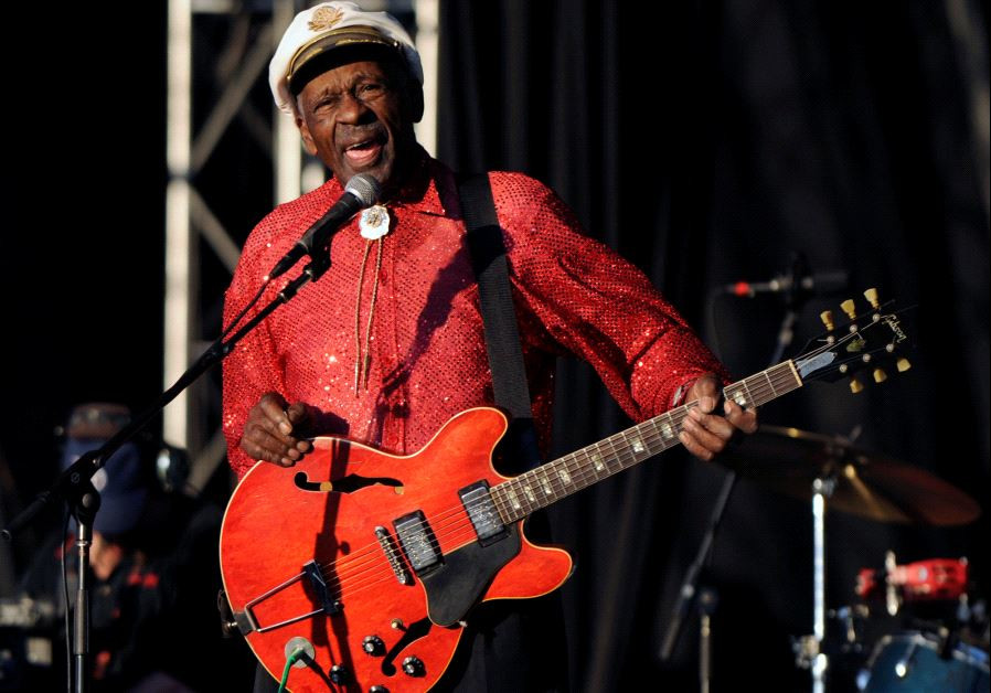 Chuck Berry performs at Virgin Mobile Festival in Baltimore, Maryland August 9, 2008.