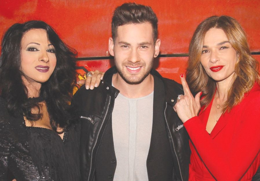 PAST ISRAELI Eurovision contestants Dana International (left) and Orna Datz (right) pose with curren