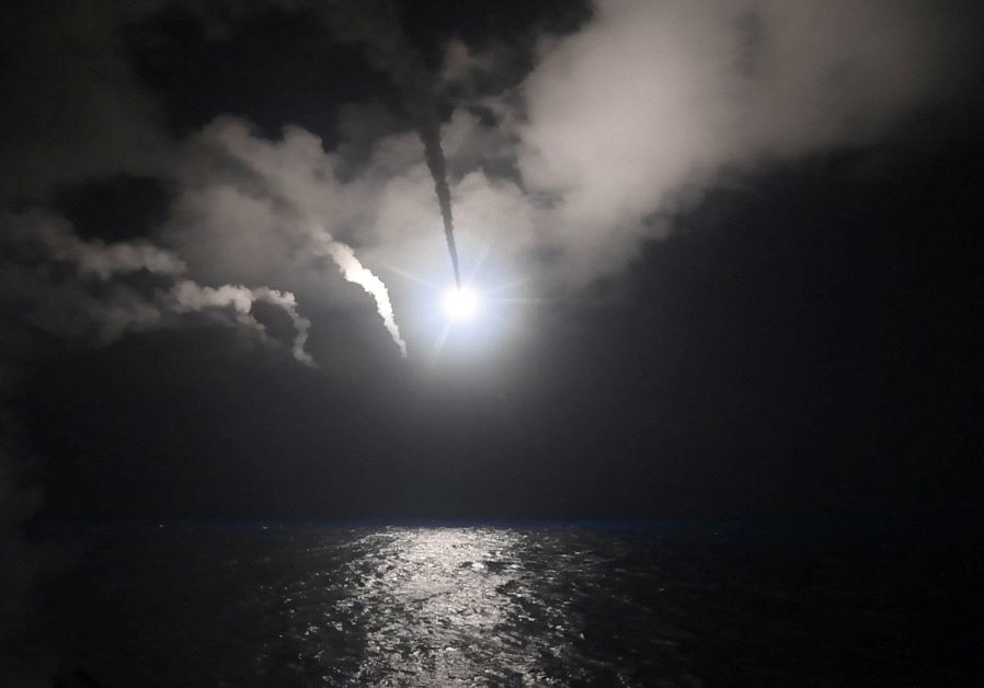 US Navy guided-missile destroyer USS Porter (DDG 78) conducts strike operations while in the Mediter