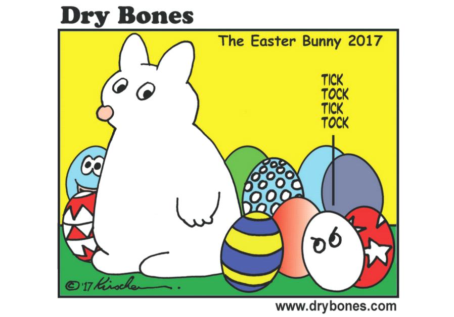 Dry Bones Cartoon, April 13 2017