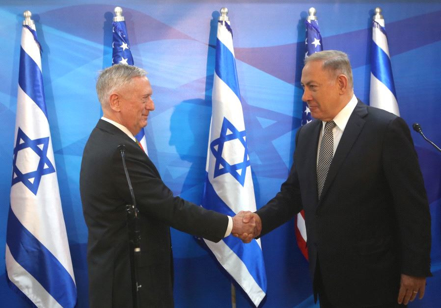 Prime Minister Benjamin Netanyahu and US Defense Secretary James Mattis
