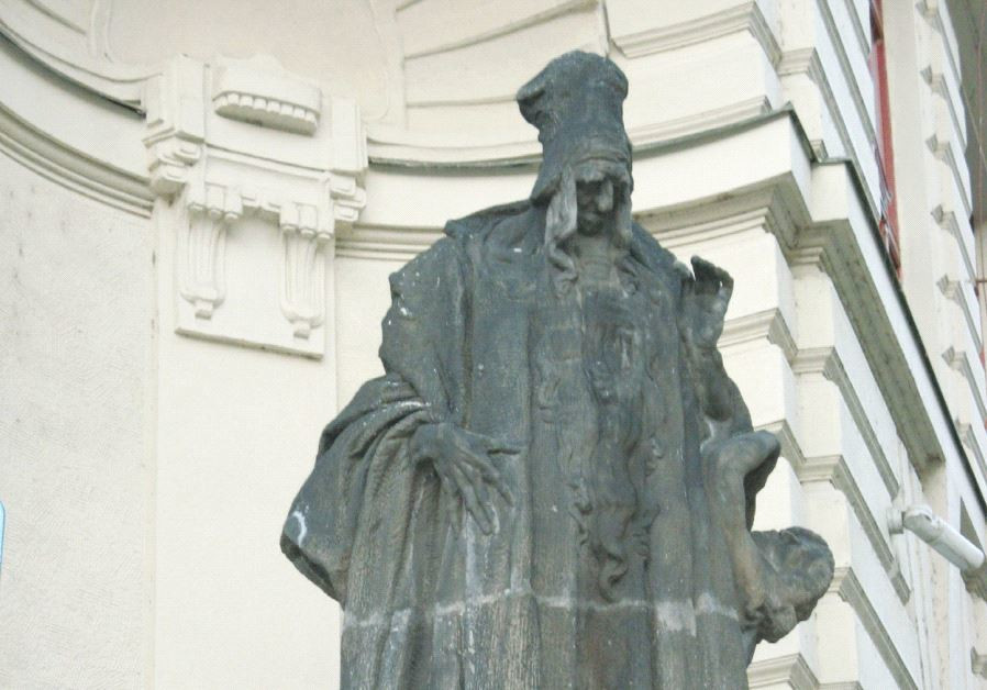 The statue of the Maharal in Prague