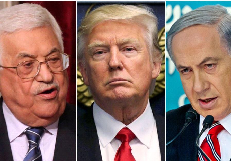 Abbas, Trump, Netanyahu